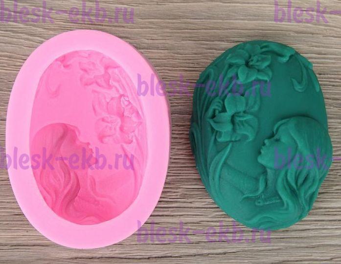 aa64ebab8 Силиконовая форма Девушка с цветами 2D 1 шт - Все для мыла ручной ...