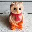 Силиконовая форма Совенок в шарфике 3D, 1 шт - Все для мыла ручной работы - интернет-магазин Blesk-ekb.ru, Екатеринбург