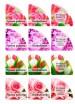 Наклейки уголок с вырубкой Цветы, 12 шт на листе - Все для мыла ручной работы - интернет-магазин Blesk-ekb.ru, Екатеринбург