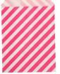 Пакет бумажный с плоским дном Полоска розовая 13*18 1 шт - Все для мыла ручной работы - интернет-магазин Blesk-ekb.ru, Екатеринбург