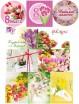 Водорастворимая бумага с печатью 8 марта 1 шт - Все для мыла ручной работы - интернет-магазин Blesk-ekb.ru, Екатеринбург