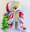 Силиконовая форма Мишка Санта №2  2D 1шт - Все для мыла ручной работы - интернет-магазин Blesk-ekb.ru, Екатеринбург
