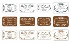 Наклейки вырезные  прямоугольник  Ручная работа, 1 шт   - Все для мыла ручной работы - интернет-магазин Blesk-ekb.ru, Екатеринбург