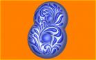 Пластиковая форма 8 ГЖЕЛЬ, 1 шт   - Все для мыла ручной работы - интернет-магазин Blesk-ekb.ru, Екатеринбург