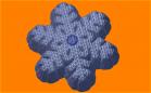 Пластиковая форма Вязанная снежинка 3 1 шт - Все для мыла ручной работы - интернет-магазин Blesk-ekb.ru, Екатеринбург
