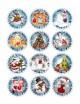 Водорастворимая бумага с печатью Новогодние узоры 1 шт - Все для мыла ручной работы - интернет-магазин Blesk-ekb.ru, Екатеринбург