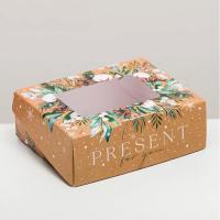 Коробочка с окошком PRESENT 1 шт - Все для мыла ручной работы - интернет-магазин Blesk-ekb.ru, Екатеринбург