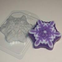Пластиковая форма Снежинка 3, 1 шт - Все для мыла ручной работы - интернет-магазин Blesk-ekb.ru, Екатеринбург