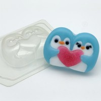 Пластиковая форма Пингвины мультяшные 1 шт    - Все для мыла ручной работы - интернет-магазин Blesk-ekb.ru, Екатеринбург