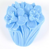 Силиконовая форма Нарциссы 2D 1шт - Все для мыла ручной работы - интернет-магазин Blesk-ekb.ru, Екатеринбург