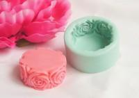 Силиконовая форма Розы по кругу 3D 1 шт - Все для мыла ручной работы - интернет-магазин Blesk-ekb.ru, Екатеринбург