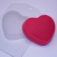 Пластиковая форма Сердце вязаное  1 шт - Все для мыла ручной работы - интернет-магазин Blesk-ekb.ru, Екатеринбург