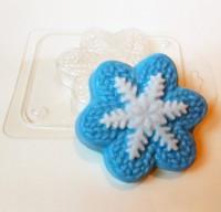 Пластиковая форма Вязаная снежинка 1 шт - Все для мыла ручной работы - интернет-магазин Blesk-ekb.ru, Екатеринбург