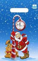Пакет полиэтиленовый Санта с часами 19*30 1 шт - Все для мыла ручной работы - интернет-магазин Blesk-ekb.ru, Екатеринбург