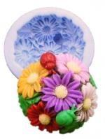 Силиконовая форма Цветочный букет 2D 1 шт - Все для мыла ручной работы - интернет-магазин Blesk-ekb.ru, Екатеринбург