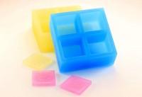 Силиконовая форма для штампа Квадрат 3*3 4 ячейки 1 шт - Все для мыла ручной работы - интернет-магазин Blesk-ekb.ru, Екатеринбург