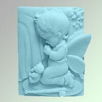 Силиконовая форма Ангел 60 2D 1 шт - Все для мыла ручной работы - интернет-магазин Blesk-ekb.ru, Екатеринбург