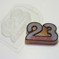 Форма пластиковая 23 февраля металл 1 шт - Все для мыла ручной работы - интернет-магазин Blesk-ekb.ru, Екатеринбург