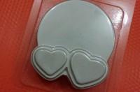 Пластиковая форма Два сердечка под картинку 1 шт - Все для мыла ручной работы - интернет-магазин Blesk-ekb.ru, Екатеринбург