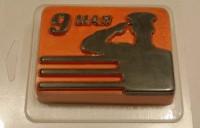 Пластиковая форма 9 мая солдат 1 шт - Все для мыла ручной работы - интернет-магазин Blesk-ekb.ru, Екатеринбург