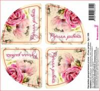 Наклейка уголок Розы ретро, 4 шт - Все для мыла ручной работы - интернет-магазин Blesk-ekb.ru, Екатеринбург