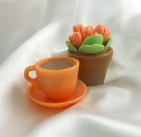 Силиконовая форма Чайная пара 3D 1 шт - Все для мыла ручной работы - интернет-магазин Blesk-ekb.ru, Екатеринбург