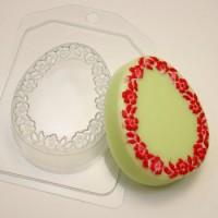 Пластиковая форма Яйцо цветочная рамка под водорастворимку, 1 шт - Все для мыла ручной работы - интернет-магазин Blesk-ekb.ru, Екатеринбург