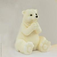 Силиконовая форма Белый мишка 3D, 1 шт - Все для мыла ручной работы - интернет-магазин Blesk-ekb.ru, Екатеринбург
