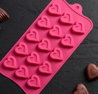 Набор мини форм Сердечки  15 шт на листе - Все для мыла ручной работы - интернет-магазин Blesk-ekb.ru, Екатеринбург