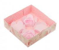 Коробка с прозрачной крышкой Розы 12*12*3, 1 шт - Все для мыла ручной работы - интернет-магазин Blesk-ekb.ru, Екатеринбург