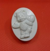 Пластиковая форма Мишка с сердечками 1 шт - Все для мыла ручной работы - интернет-магазин Blesk-ekb.ru, Екатеринбург