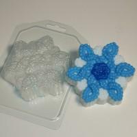 Пластиковая форма Снежинка вязаная 1 шт - Все для мыла ручной работы - интернет-магазин Blesk-ekb.ru, Екатеринбург