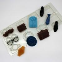 Пластиковая форма Мужское ассорти 1 шт - Все для мыла ручной работы - интернет-магазин Blesk-ekb.ru, Екатеринбург
