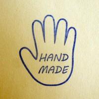 Силиконовый штамп HAND MADE ладошка 1 шт - Все для мыла ручной работы - интернет-магазин Blesk-ekb.ru, Екатеринбург
