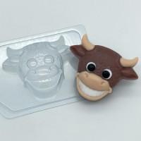 Пластиковая форма Бык с улыбкой 1 шт         - Все для мыла ручной работы - интернет-магазин Blesk-ekb.ru, Екатеринбург