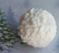Силиконовая форма Снежок 3D, 1 шт  - Все для мыла ручной работы - интернет-магазин Blesk-ekb.ru, Екатеринбург