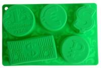 Силиконовая форма Счастливый рубль 1 шт - Все для мыла ручной работы - интернет-магазин Blesk-ekb.ru, Екатеринбург