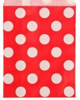 Пакет бумажный с плоским дном Горошки 13*18 1 шт - Все для мыла ручной работы - интернет-магазин Blesk-ekb.ru, Екатеринбург