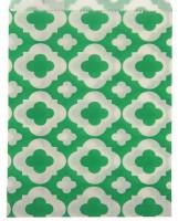 Пакет бумажный с плоским дном Узор зеленый 13*18 1 шт - Все для мыла ручной работы - интернет-магазин Blesk-ekb.ru, Екатеринбург