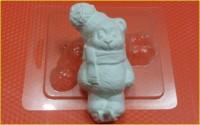 Пластиковая форма Мишка на коньках 1 шт - Все для мыла ручной работы - интернет-магазин Blesk-ekb.ru, Екатеринбург