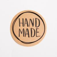 Наклейка Hand made круг  4*4 5 шт - Все для мыла ручной работы - интернет-магазин Blesk-ekb.ru, Екатеринбург