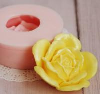 Силиконовая форма Розочка 3D, 1 шт - Все для мыла ручной работы - интернет-магазин Blesk-ekb.ru, Екатеринбург