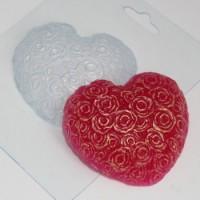 Форма пластиковая Сердце из роз 1 шт - Все для мыла ручной работы - интернет-магазин Blesk-ekb.ru, Екатеринбург