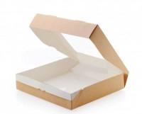 Эко-коробочка с окошком 20*20*4, 1 шт - Все для мыла ручной работы - интернет-магазин Blesk-ekb.ru, Екатеринбург