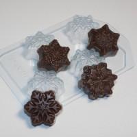 Пластиковая форма Снежинки мини 1 шт - Все для мыла ручной работы - интернет-магазин Blesk-ekb.ru, Екатеринбург
