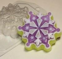 Пластиковая форма Снежинка 6, 1 шт - Все для мыла ручной работы - интернет-магазин Blesk-ekb.ru, Екатеринбург