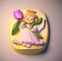 Силиконовая форма Ангелочек 50 2D 1 шт - Все для мыла ручной работы - интернет-магазин Blesk-ekb.ru, Екатеринбург