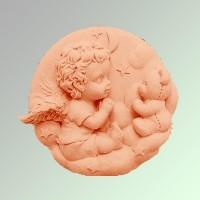 Силиконовая форма Ангелочек с Мишкой 2D 1шт - Все для мыла ручной работы - интернет-магазин Blesk-ekb.ru, Екатеринбург