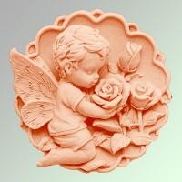 Силиконовая форма Ангелочек с Розами 2D 1шт - Все для мыла ручной работы - интернет-магазин Blesk-ekb.ru, Екатеринбург
