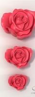 Силиконовая форма Набор  Роза 3 шт 2D - Все для мыла ручной работы - интернет-магазин Blesk-ekb.ru, Екатеринбург